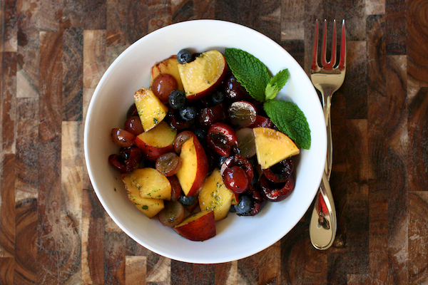 Fruit salad with mint sugar 5