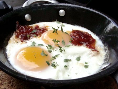 grill-baked eggs