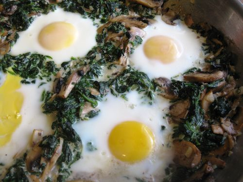 Baked Eggs with Spinach and Mushrooms_Full
